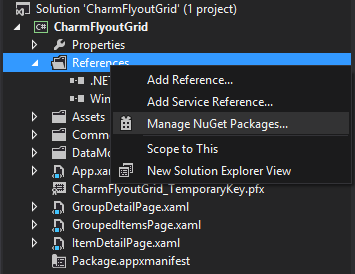 Add Reference context menu