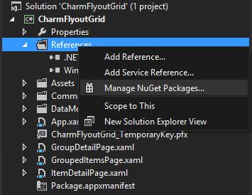 Add Reference context menu