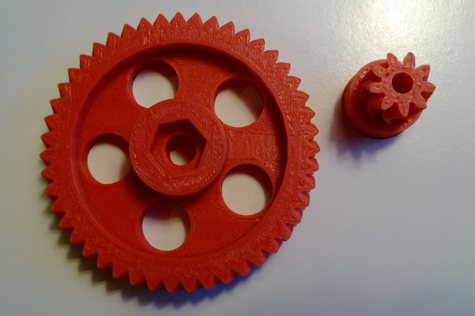Wade extruder gears